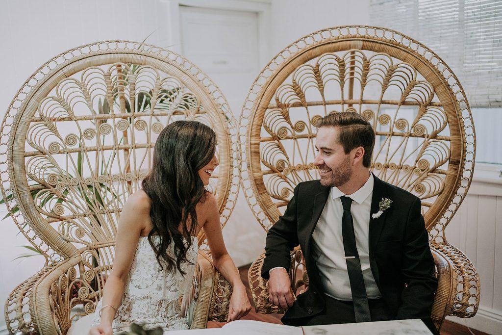 Bride and groom at Loyal Hope